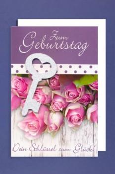 Glückwunschkarte - Geburtstag Dein Schlüssel zum Glück!