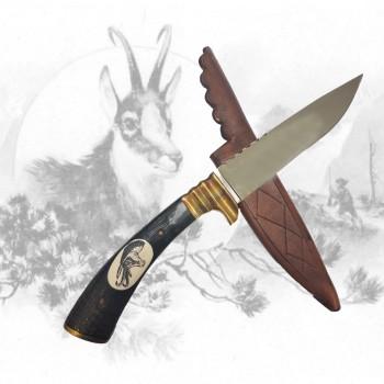 Jagdmesser mit Gamsgravur