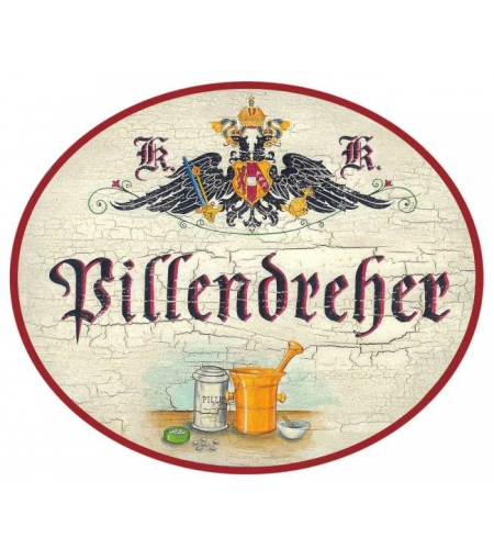 Nostalgieschild Pillendreher