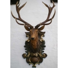 carved deer head