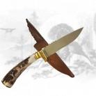 Jagdmesser mit Hirschhornschnitzerei