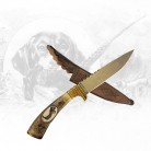 Jagdmesser mit Steinbockgravur