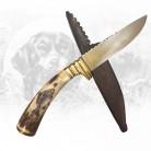 Jagdmesser mit Fischgravur