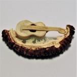 Hirschrose Motiv Gitarre
