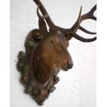 hand carved deer head