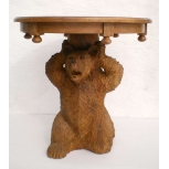 hand carved bear table