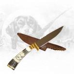 Jagdmesser mit Greifvogelschnitzerei