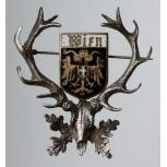 Hubertushirsch Wappen Wien Österreich Email