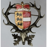 Hubertushirsch Wappen Kärnten Österreich Email