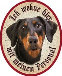 Dobermann Hund +