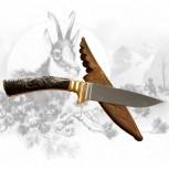Jagdmesser mit Gamsschnitzerei