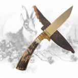 Jagdmesser mit Gamshauptgravur