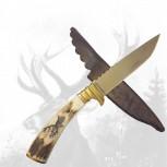 Jagdmesser mit Hirschhauptgravur