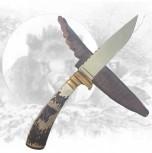 Jagdmesser mit Wildschweinhauptgravur