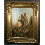 antique poacher painting