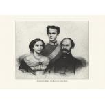 Kronprinz Ludwig Bayern mit seinen Eltern