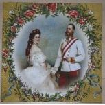 Servietten Sissi und Franz gold
