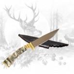 Jagdmesser mit Steinbockschnitzerei