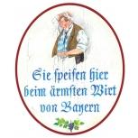 Sie speisen beim ärmsten Wirt Bayern