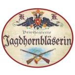 Jagdhornbläserin