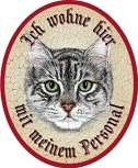 Katze Tiger schwarz weiss +