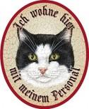 Katze schwarz weiss +