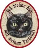 Katze schwarz +