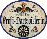 Profi-Dartspielerin +